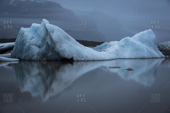 Iceberg at Fjallsarlon glacier lagoon in Iceland