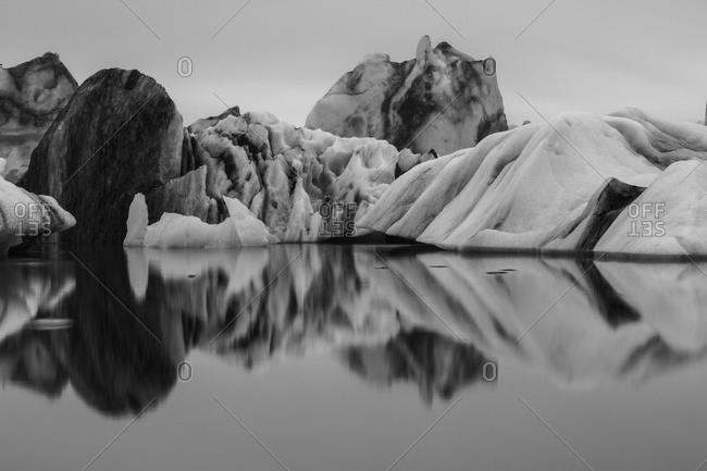 Iceberg at Jokulsarlon glacier lagoon in Iceland