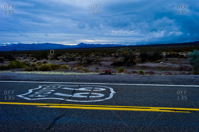 Historic Route 66 in the USA