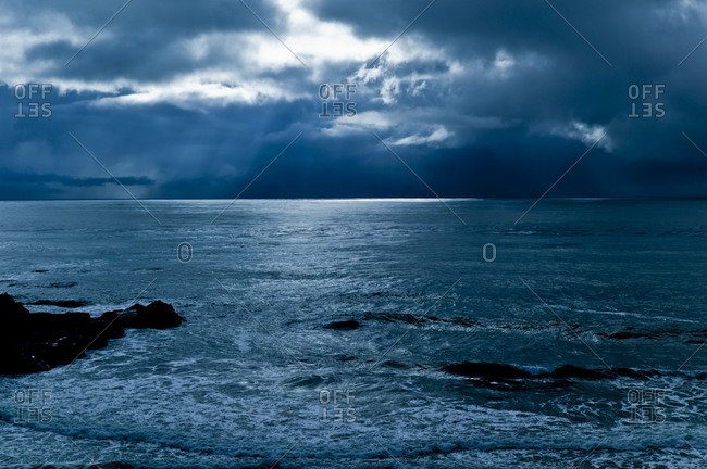 Stormy weather over the ocean