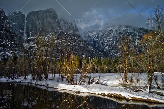 Winter landscape in Yosemite Valley