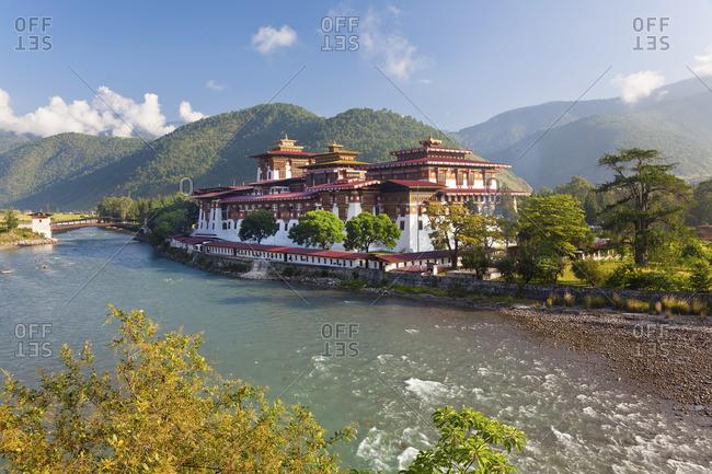 Punakha Dzong monastic fortress in Punakha, Bhutan