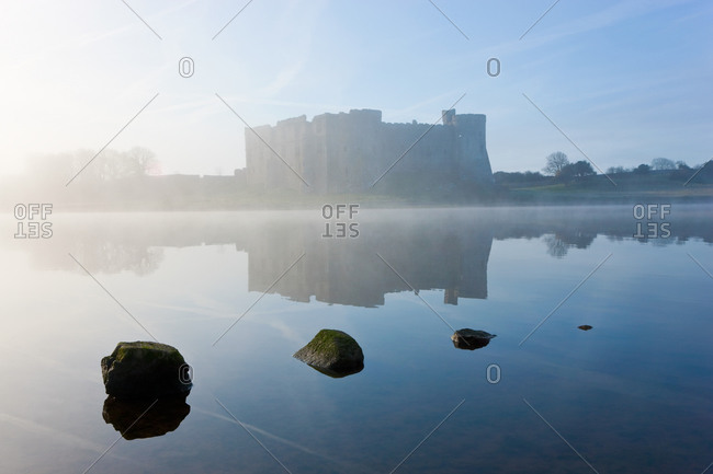 Carew Castle in Pembrokeshire Coast National Park, Wales