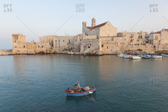 View of Giovinazzo from the sea, Puglia, Italy