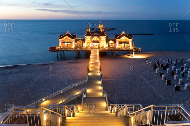 Pier at Sellin in Rugen Island, Germany
