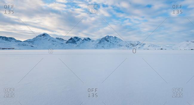 King Oscar Fjord and Polhejmfjell Mountain in Tasiilaq, Greenland