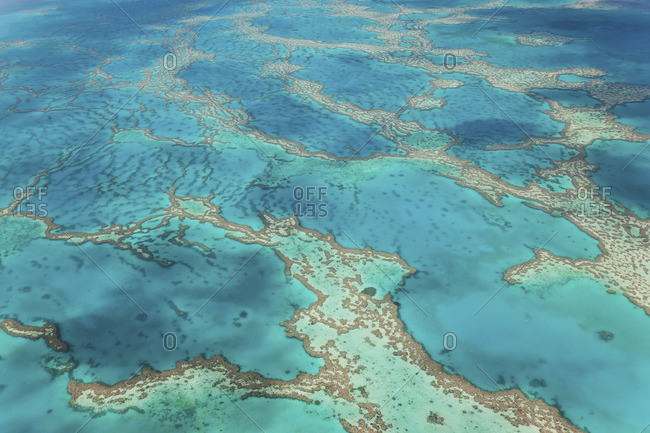 Aerial view of the Great Barrier Reef, Queensland, Australia