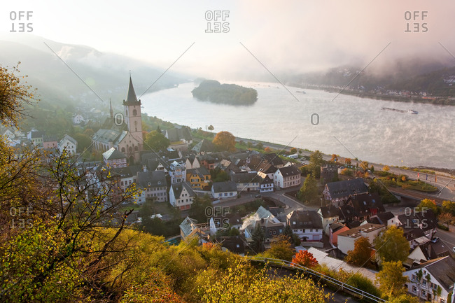 Small town of Lorch in the Rhine valley, Germany