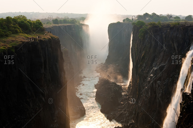 The Victoria Falls in Zambia, Africa