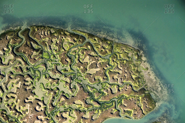 Ria Formosa Lagoon is a series of inlets and barrier islands near Faro