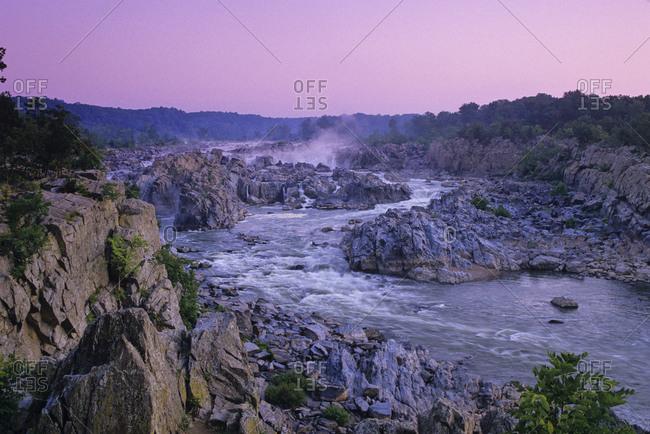 Scenic overlook of Great Falls