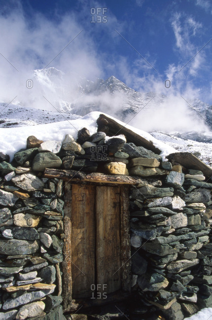A yak herder shelter in the high mountains of China