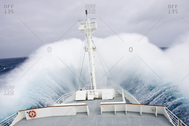 Crossing Drake's Passage, Southern Ocean,