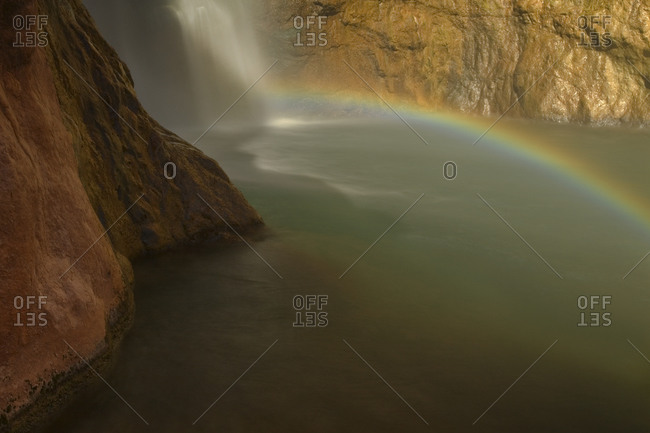 Rainbow below Deer Creek Falls, Grand Canyon National Park, Arizona.
