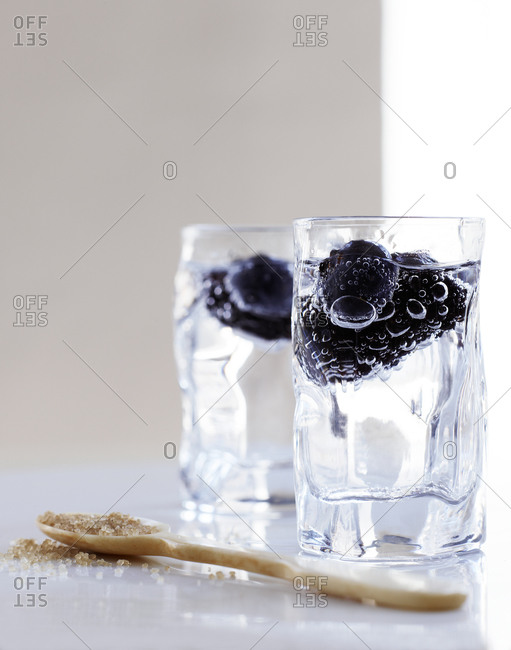 Still life with two glasses of water