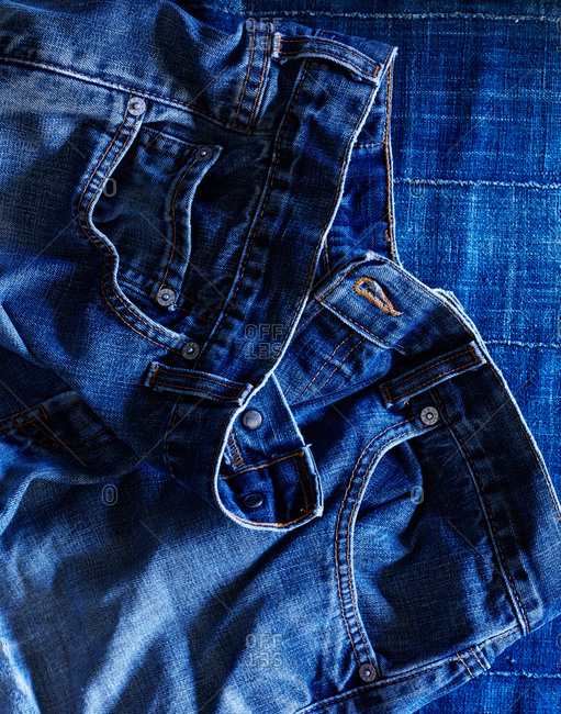 Close-up of a jeans
