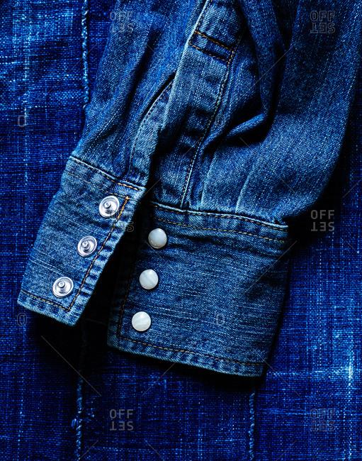 Close-up of a denim shirt