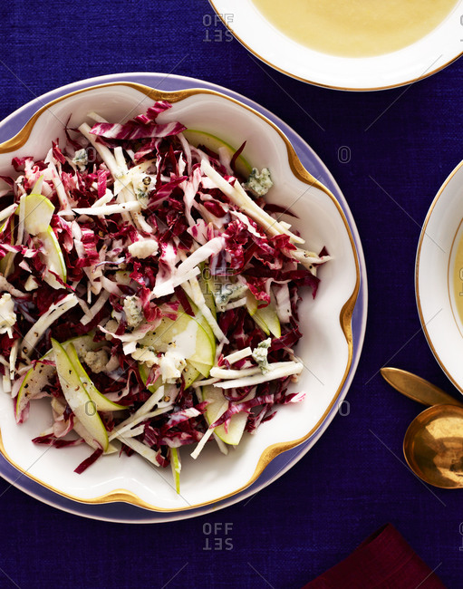 Apple and celery root salad