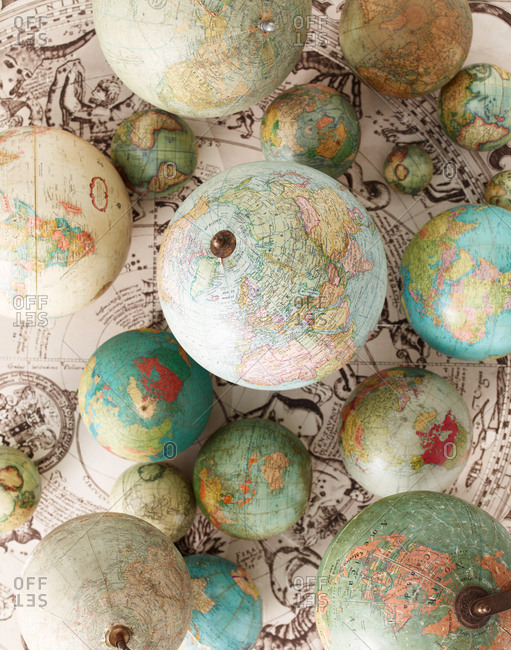 Selection of vintage globes