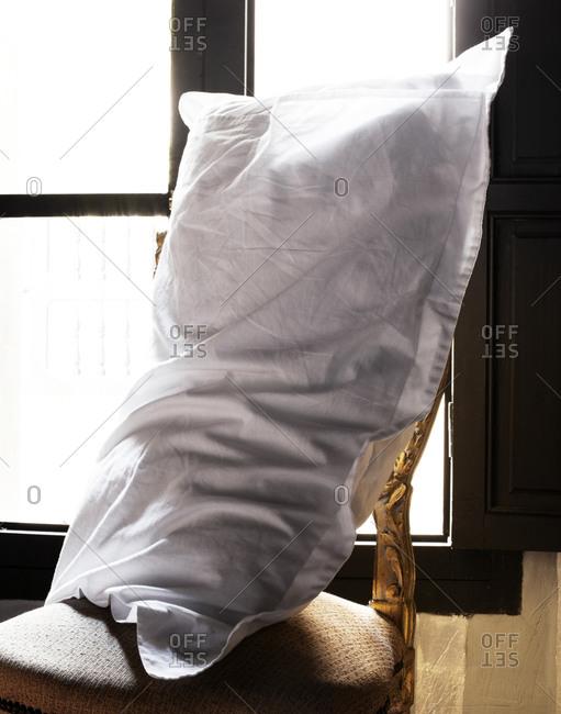 Pillow on an antique chair