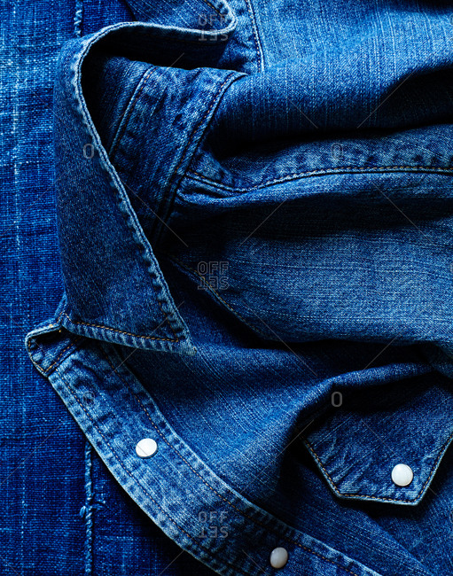 Close-up of a denim shirt