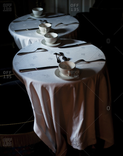 A table setting in restaurant