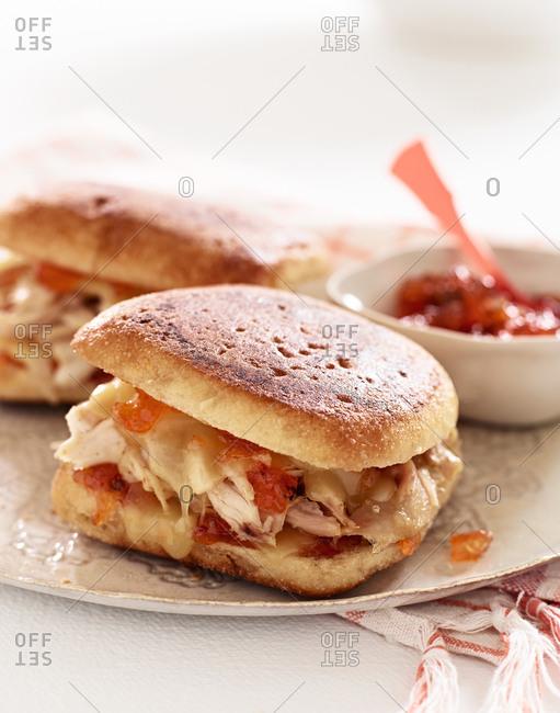 Spicy jack chicken sandwich