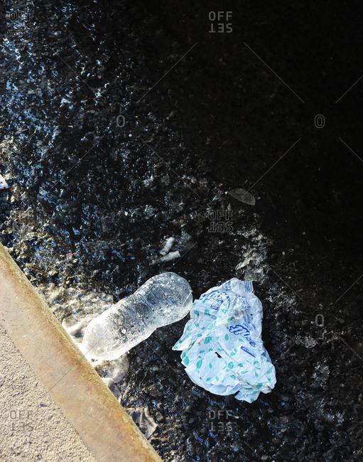 Litter in the street