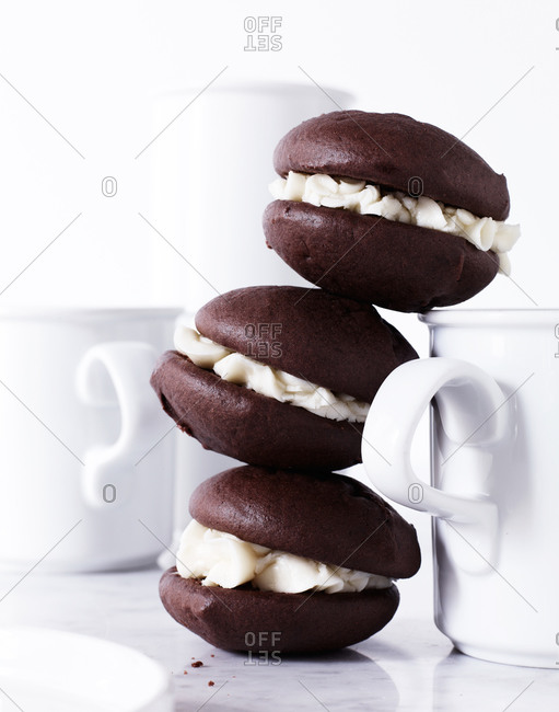 Three stacked whoopie pies - Offset