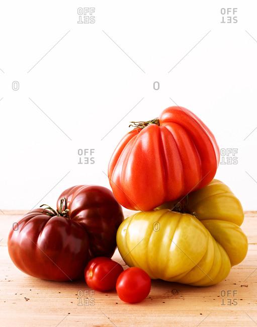 Whole, heirloom tomatoes