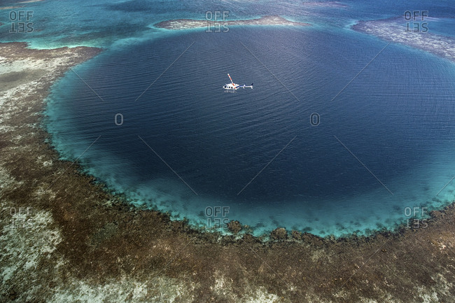 Aerial View, Blue Hole - Offset