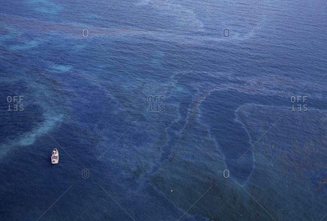 Oil Slick On The Ocean