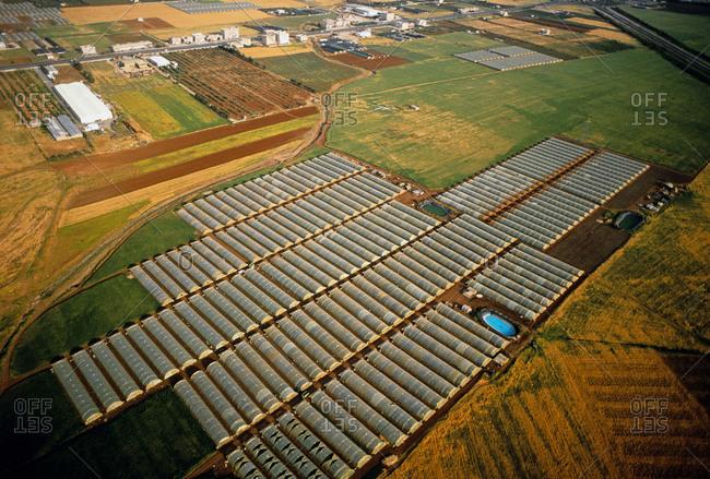 Aerial view of agriculture in Jordan