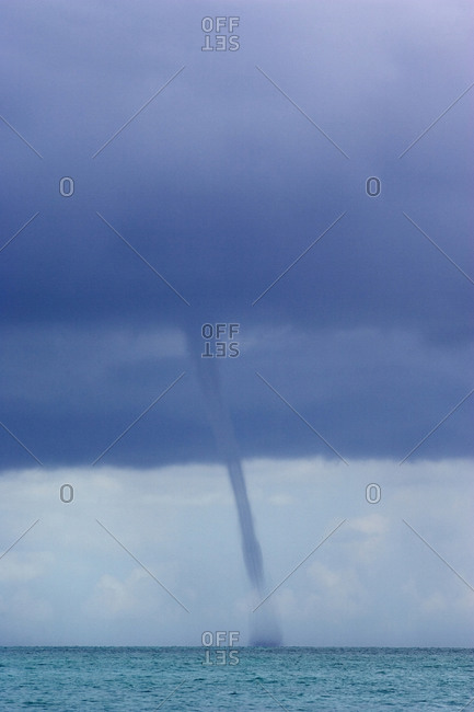 Waterspout at sea