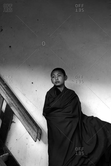 Portrait of a novice Buddhist monk