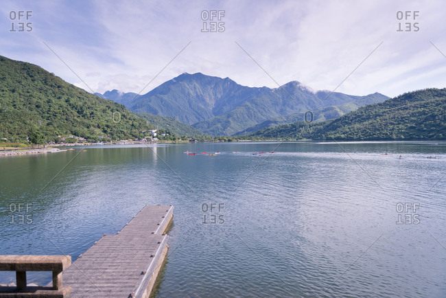 Beautiful lake in early morning light, Liyutan, Hualian, Taiwan, Asia.