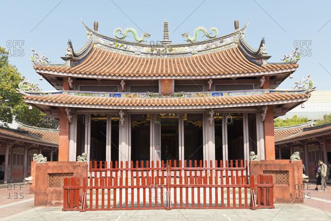 Tainan Confucius Temple in Taiwan, Republic of China.