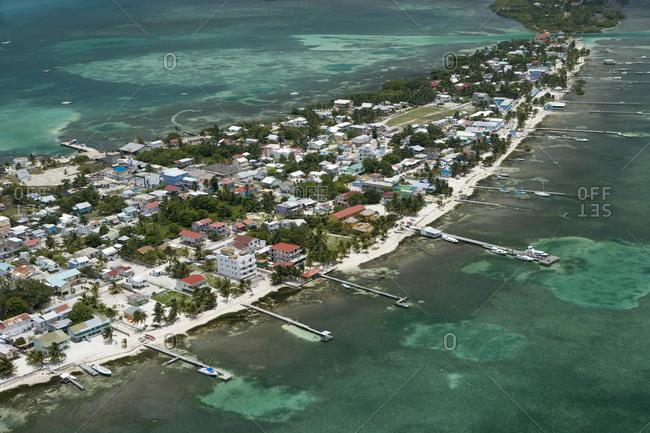 Coastline of Ambergris Caye