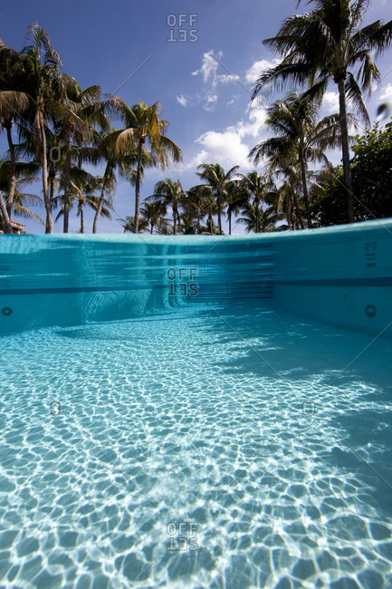Over/under of crystalline water in swimming pool