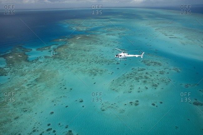 Helicopter tour over parts of the Great Barrier Reef