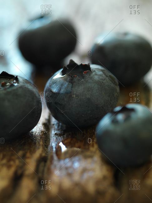 Close-up of raw blueberries