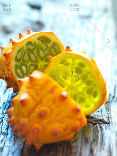 Close-up of horned melon