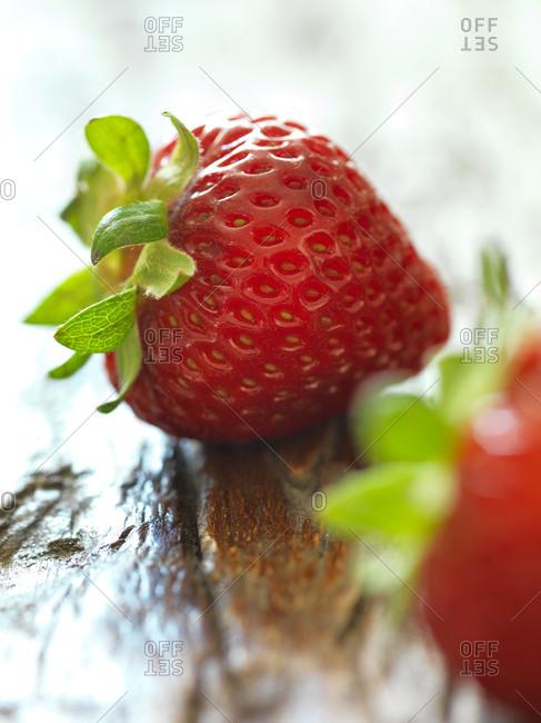 Close-up of raw strawberries