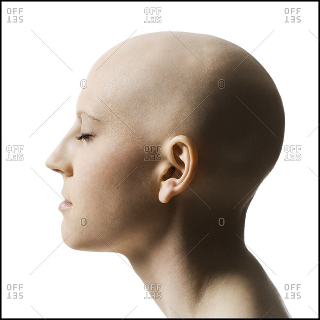 Bald woman from the Offset Collection