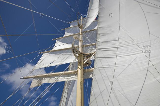 Aboard the Star Flyer, a true clipper ship,  cruising through the Society Islands