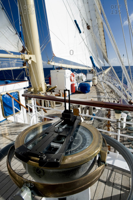Aboard the Star Flyer, a true clipper ship,  during a trip through French Polynesia