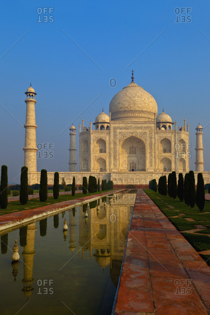 Taj Mahal and reflecting pool