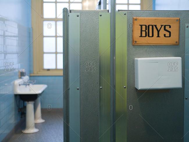 Boys bathroom at school - Offset