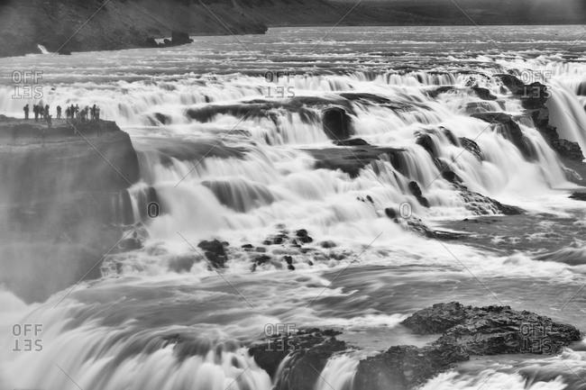 a view of the Gullfoss (Falls)