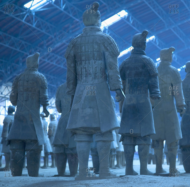 Low-angle view of Terra Cotta Warriors